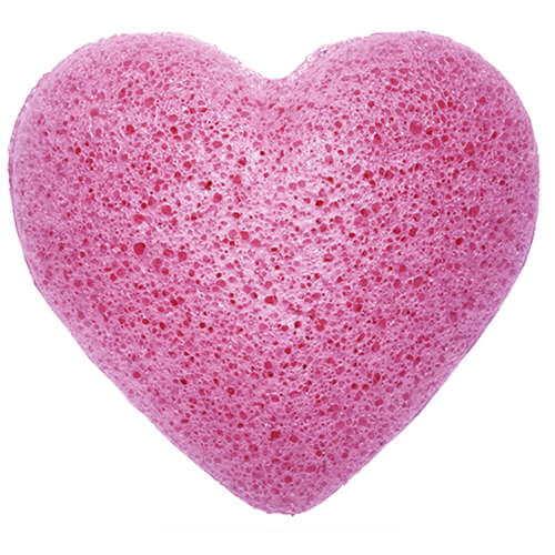 konjac sponge heart - lavender