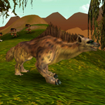 Šedá hyena divokých psů