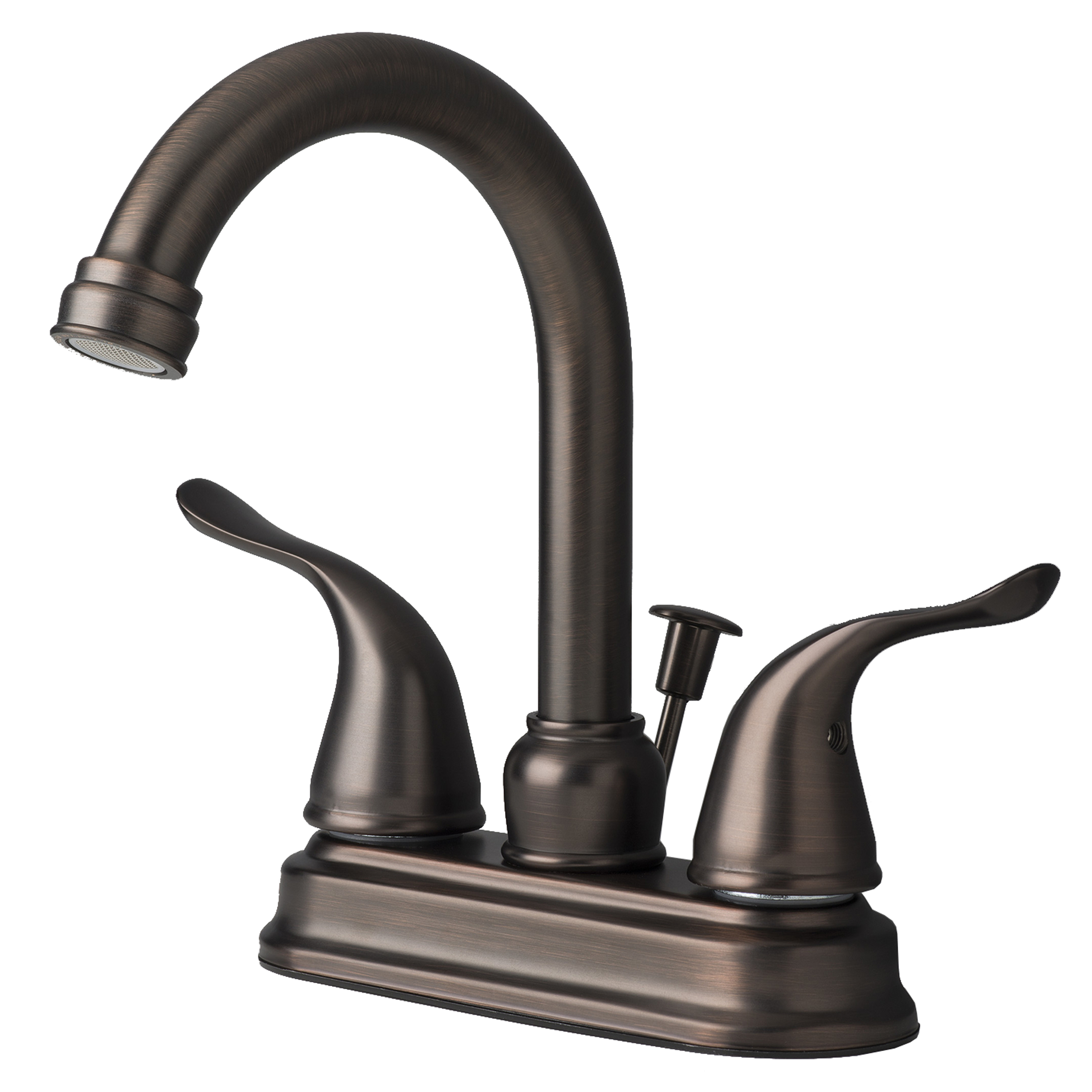 Contemporary Bathroom Vanity Sink 4 Centerset Lavatory Faucet Brushed Bronze Ebay