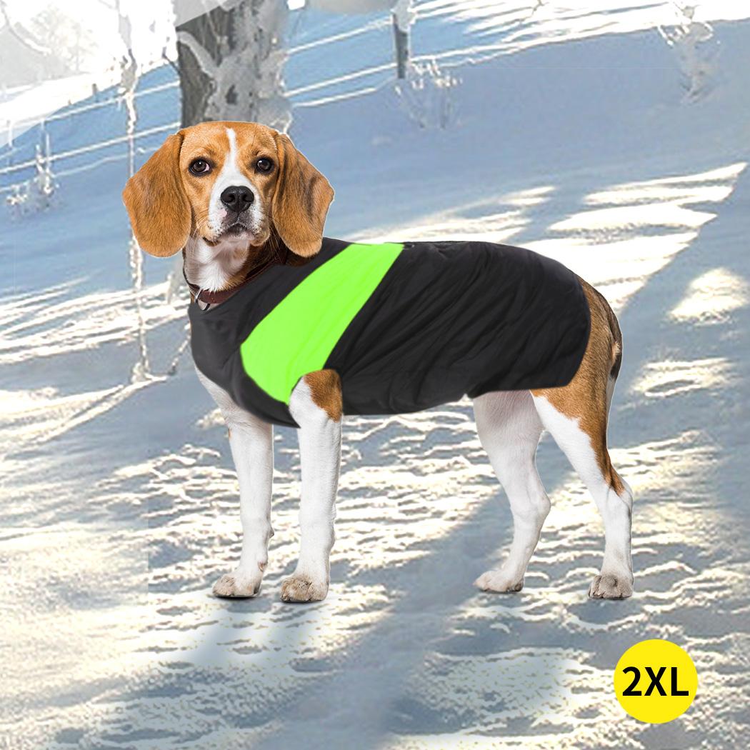 thumbnail 50 - PaWz Dog Jacket Large Pet Jackets Coat Waterproof Clothes Winter Vest Green