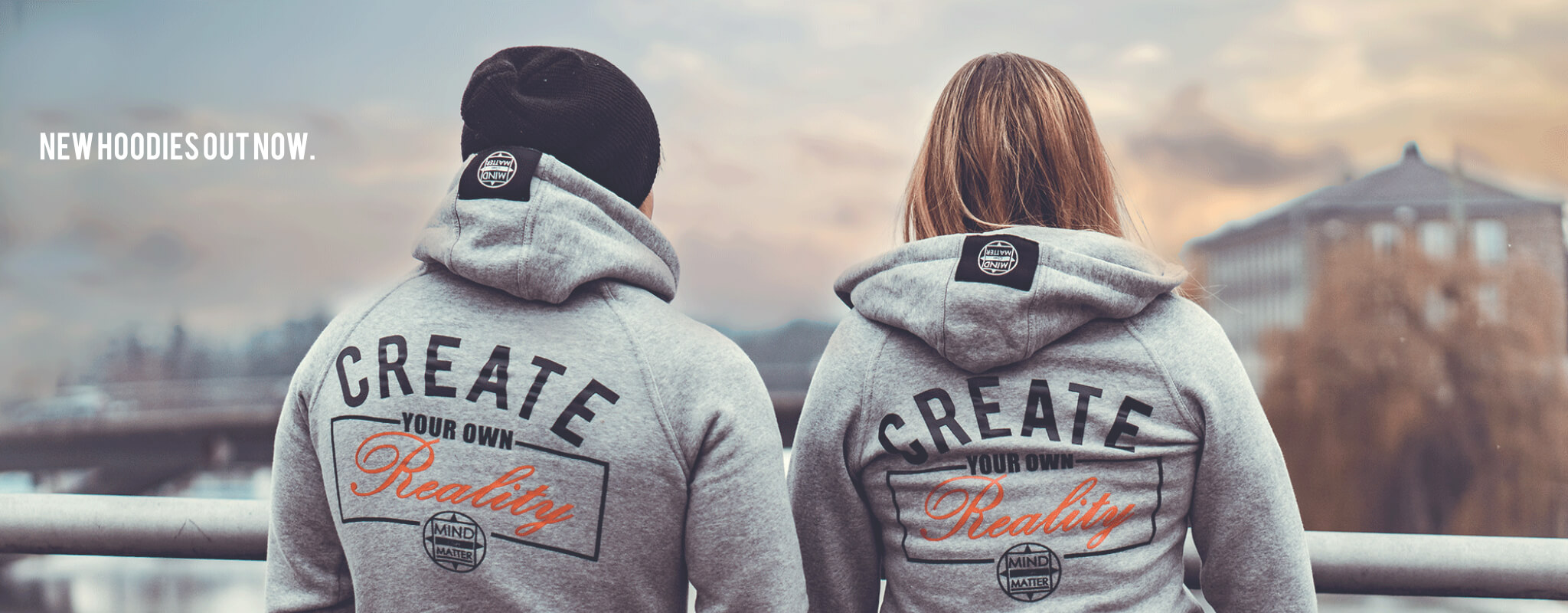 MIND OVER MATTER create your own reality hoodie. - Banner