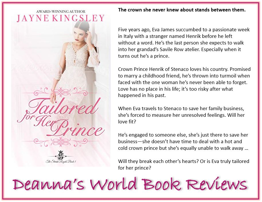 Tailored For Her Prince by Jayne Kingsley blurb