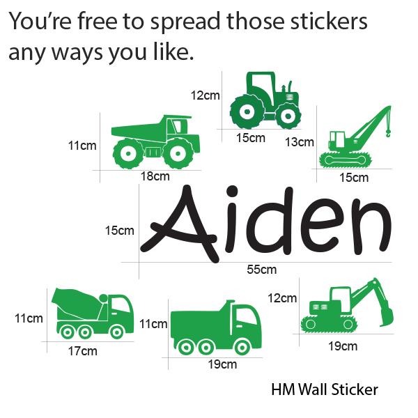 truck kids wall sticker