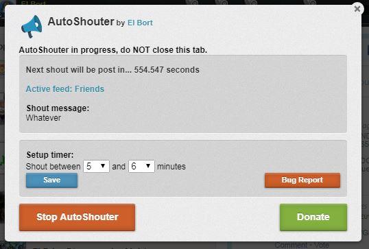 eRepublik AutoShouter - script para shoutear automáticamente Autoshout_2