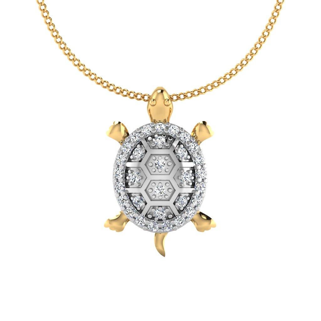 The Tortoise Diamond Pendant