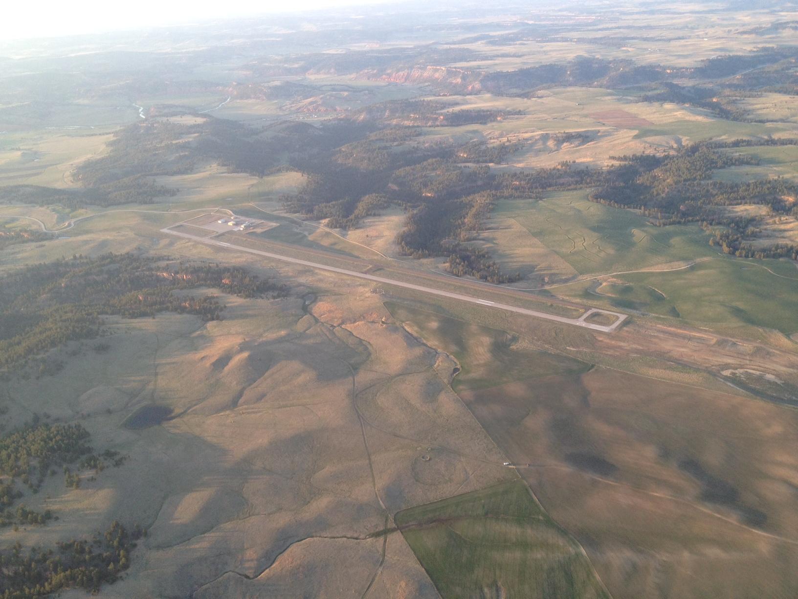 Photo Hewlett SD before landing