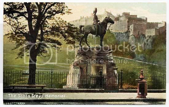 Мемориал в честь Шотландских Серых в Эдинбурге