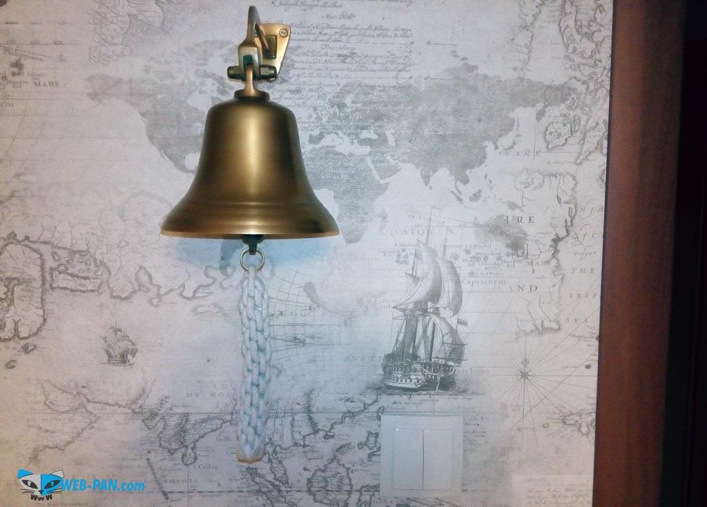 Рында на стену в кабинете, классный морской стиль!
