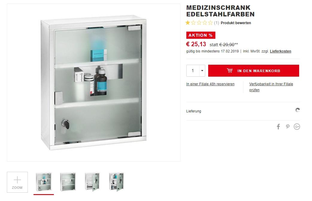Screenshot der Produkt-Anzeige