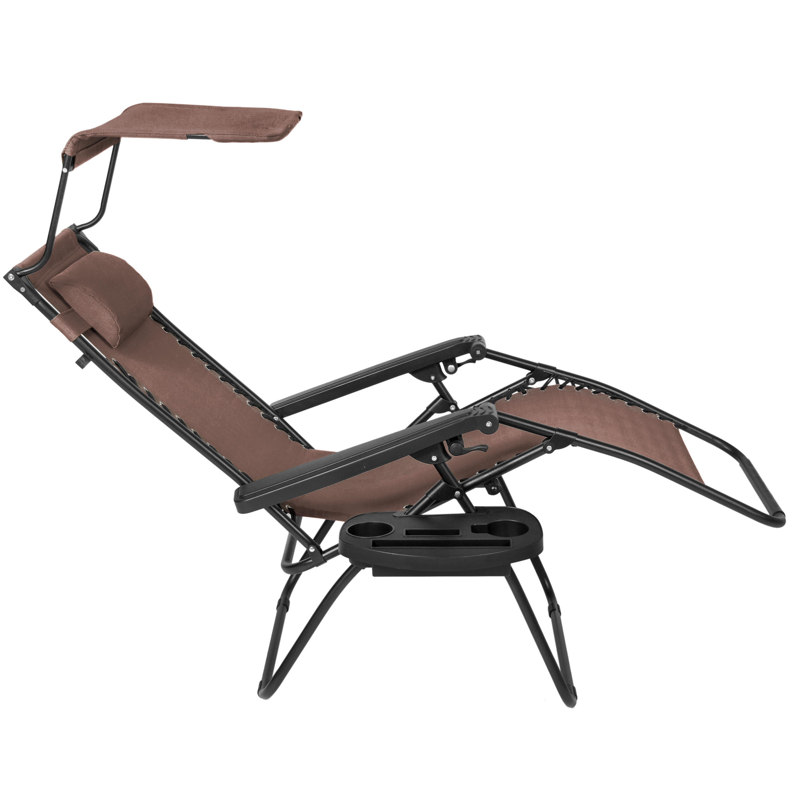 BCP-Folding-Zero-Gravity-Recliner-Lounge-Chair-w-Canopy-Cup-Holder thumbnail 25