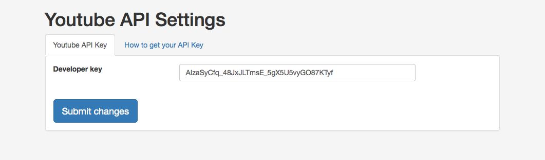 Youtube API Settings