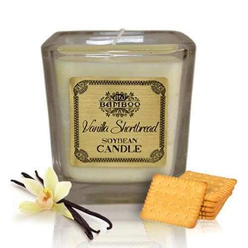soy wax jar candle - vanilla shortbread