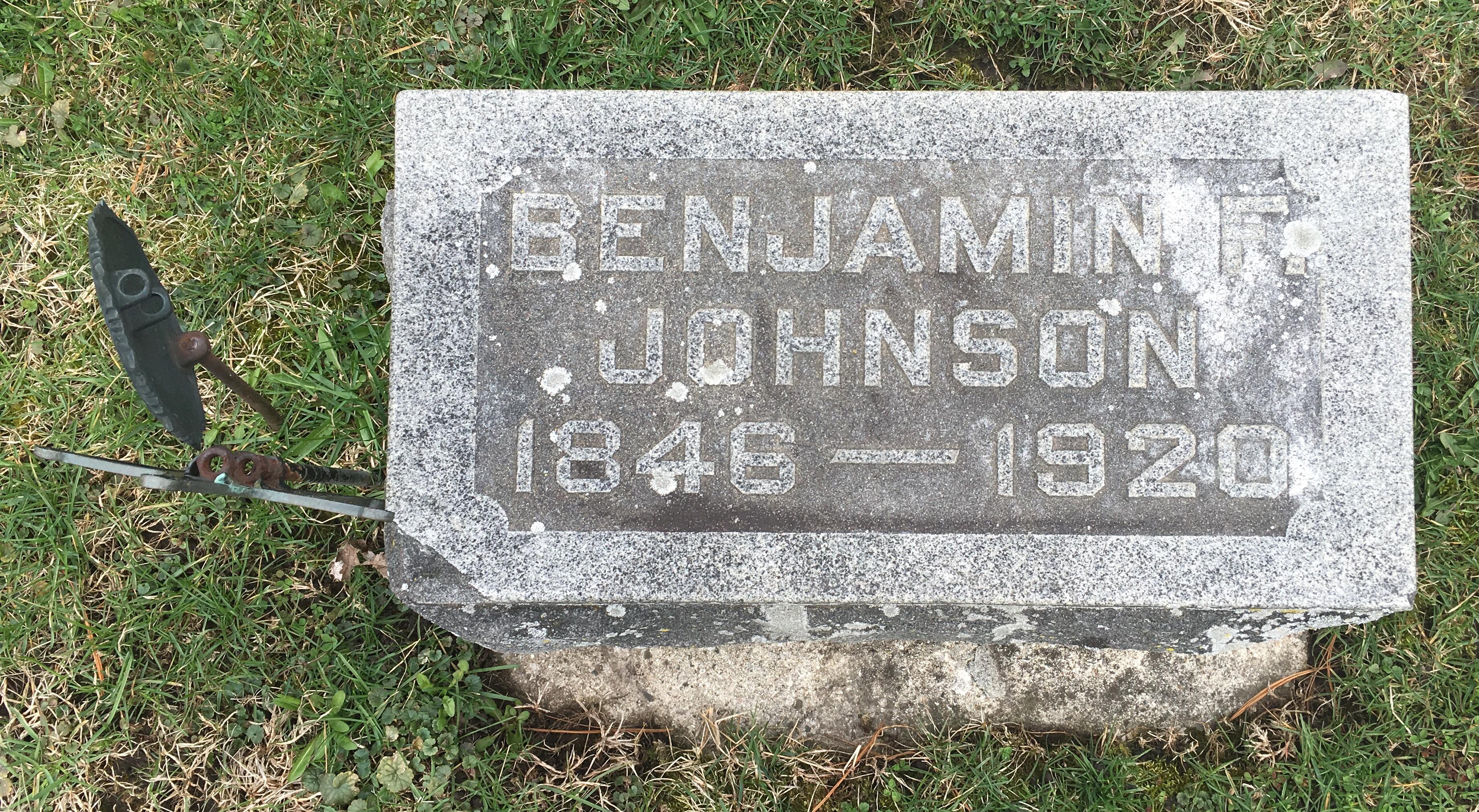 Benjamin F Johnson Gravestone