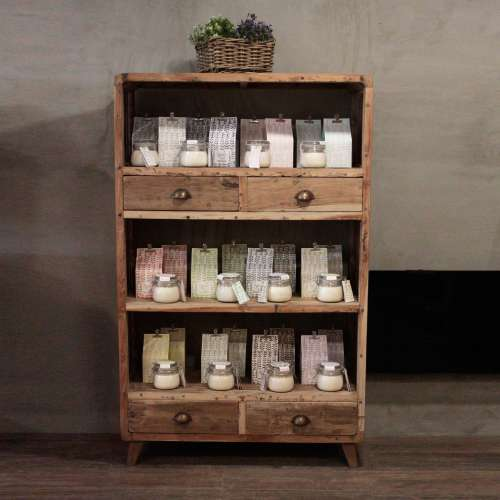 shelf display - recycled wood