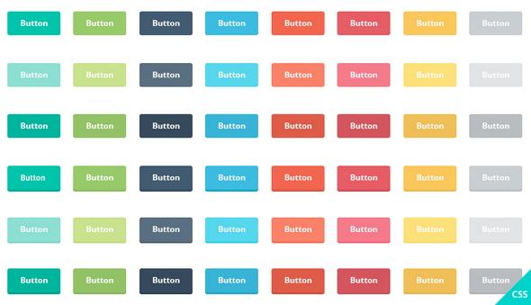 PSD - Freebie: Flat Buttons