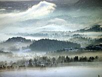 Der Morgennebel verleiht Oslo einen zauberhaften Schleier