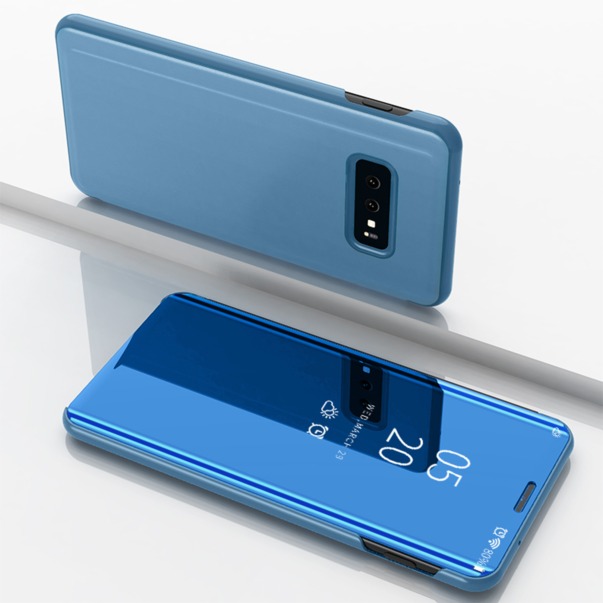 thumbnail 48 - For-Samsung-Galaxy-S9-S10-Plus-Smart-View-Mirror-Leather-Flip-Stand-Case-Cover