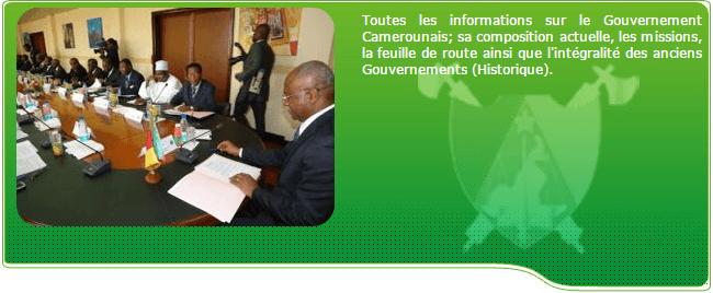 Portail du Gouvernement camerounais Portail du Gouvernement du Cameroun
