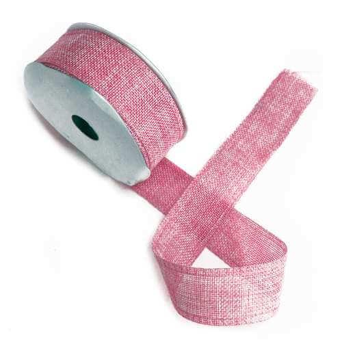 gift ribbon textured - pink - 38mm x 20m