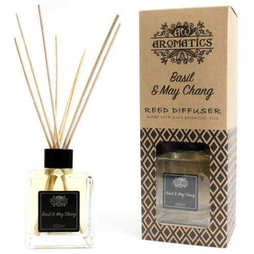essential oil reed diffuser - basil & maychang