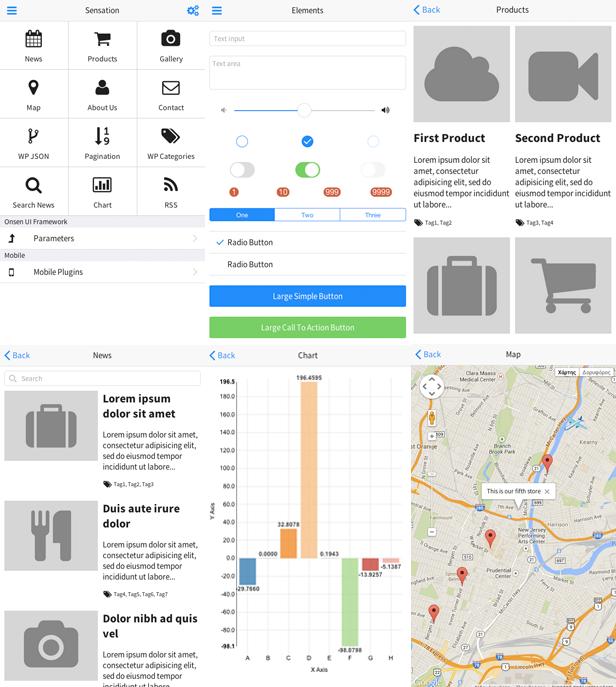 Sensation - PhoneGap / Cordova Full Hybrid App - 4