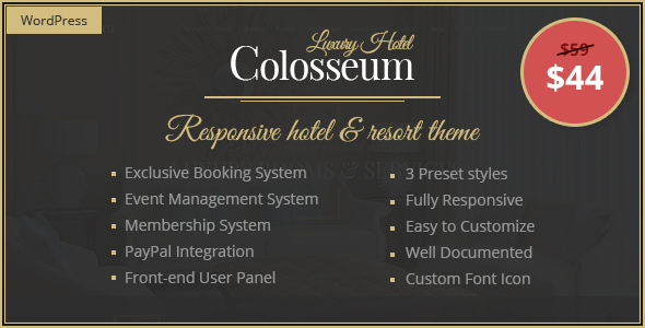 Colosseum - Premium Hotel & Resort WordPress Theme