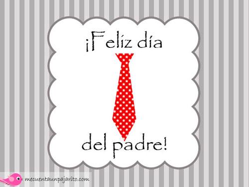 Felicitación, feliz día del padre