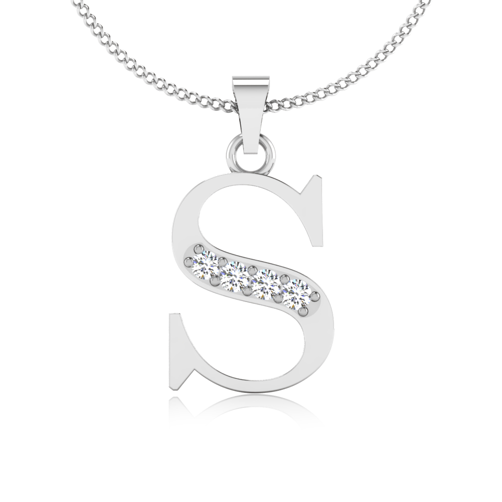 The Elegant S Diamond Pendant