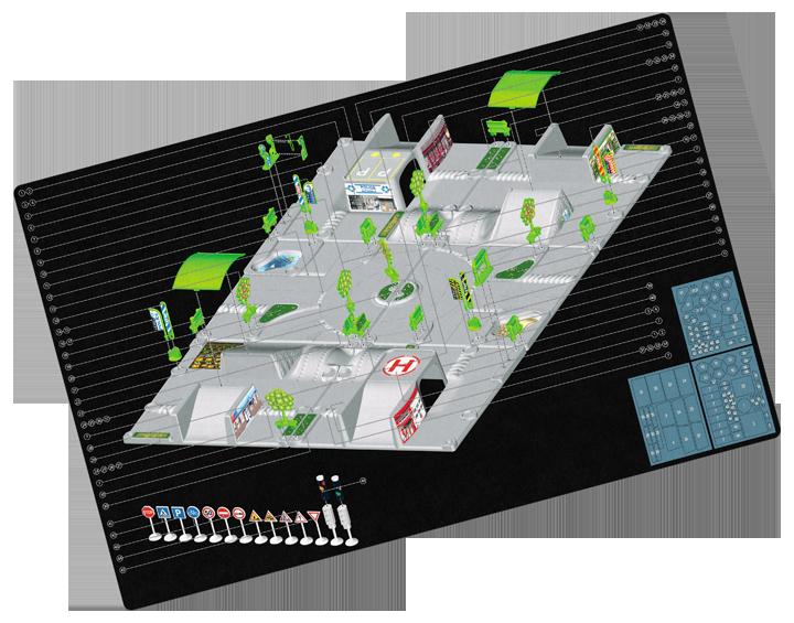 Notice de montage et de collage des stickers sur le tapis T23066. Cliquez pour afficher en HD