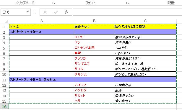 Evernoteに表計算ソフトで表を作る(ソフト別比較)1