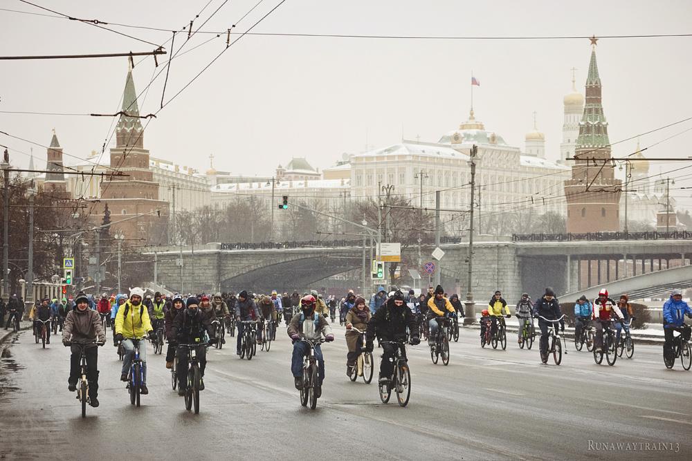 Зимний велопарад.