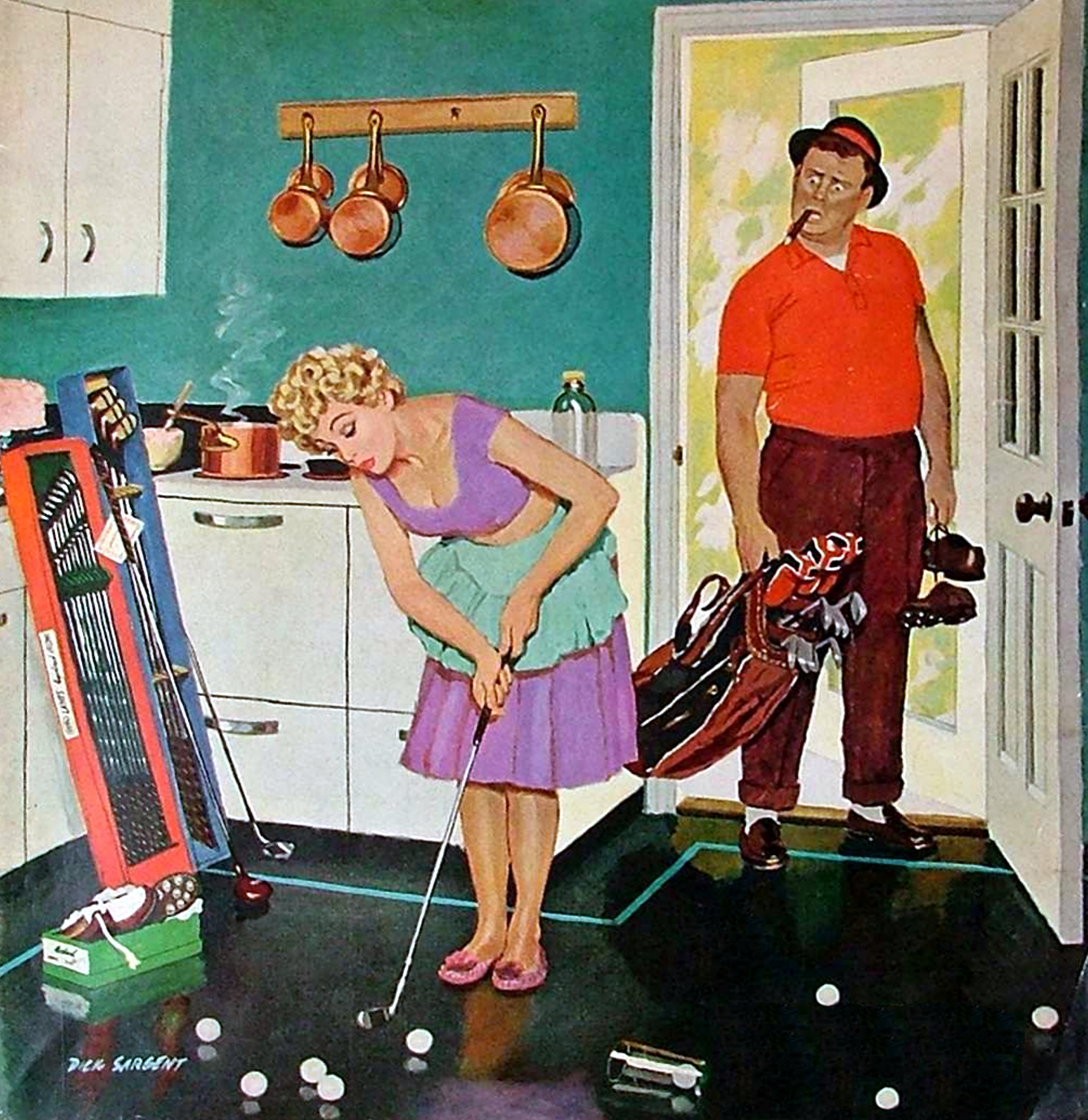 vintage golf art  eBay