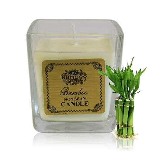 soy wax jar candle - bamboo