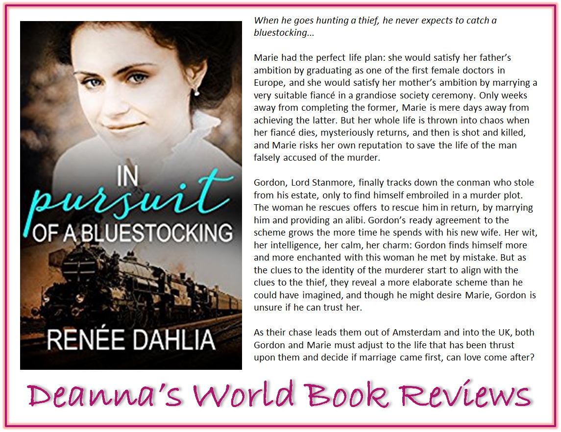 In Pursuit of a Bluestocking by Renee Dahlia blurb