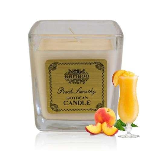 soy wax jar candle - peach smoothie