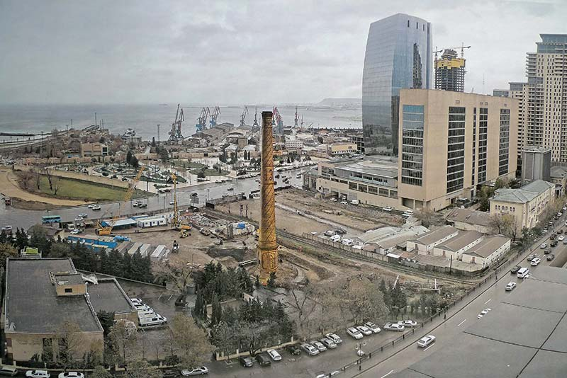Historic chimney in Baku will be at the heart of a new shopping complex thanks to Newport firm Cintec