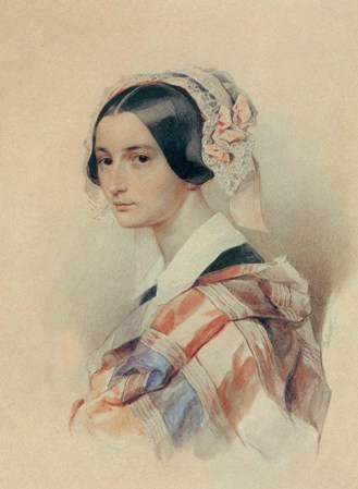 Sokolov Retrato A Smirnova, acuarela