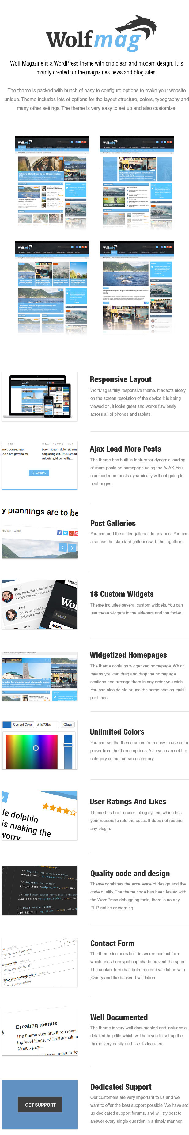 WordPress theme Wolf - Responsive WordPress Magazine Theme (Blog / Magazine)