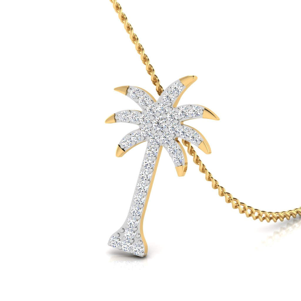 The Coconut Tree Diamond Pendant