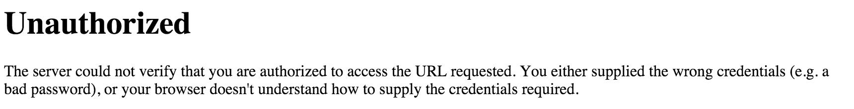 Unauthorized