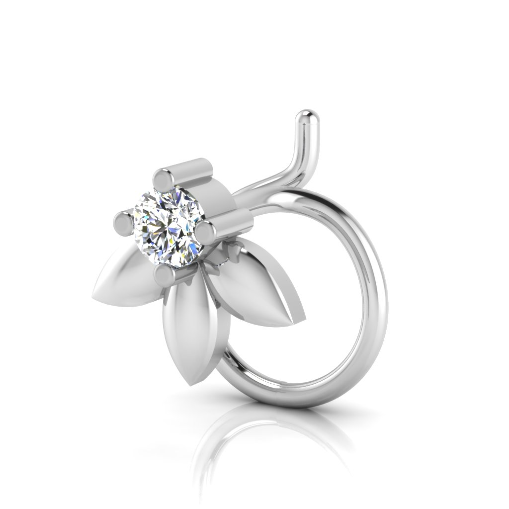The Washim Solitaire Diamond Nose Pin