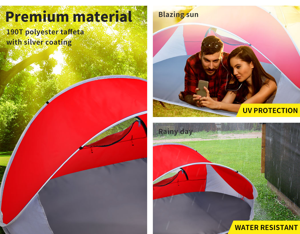 Mountvie-Pop-Up-Tent-Camping-Beach-Tents-4-Person-Portable-Hiking-Shade-Shelter thumbnail 40