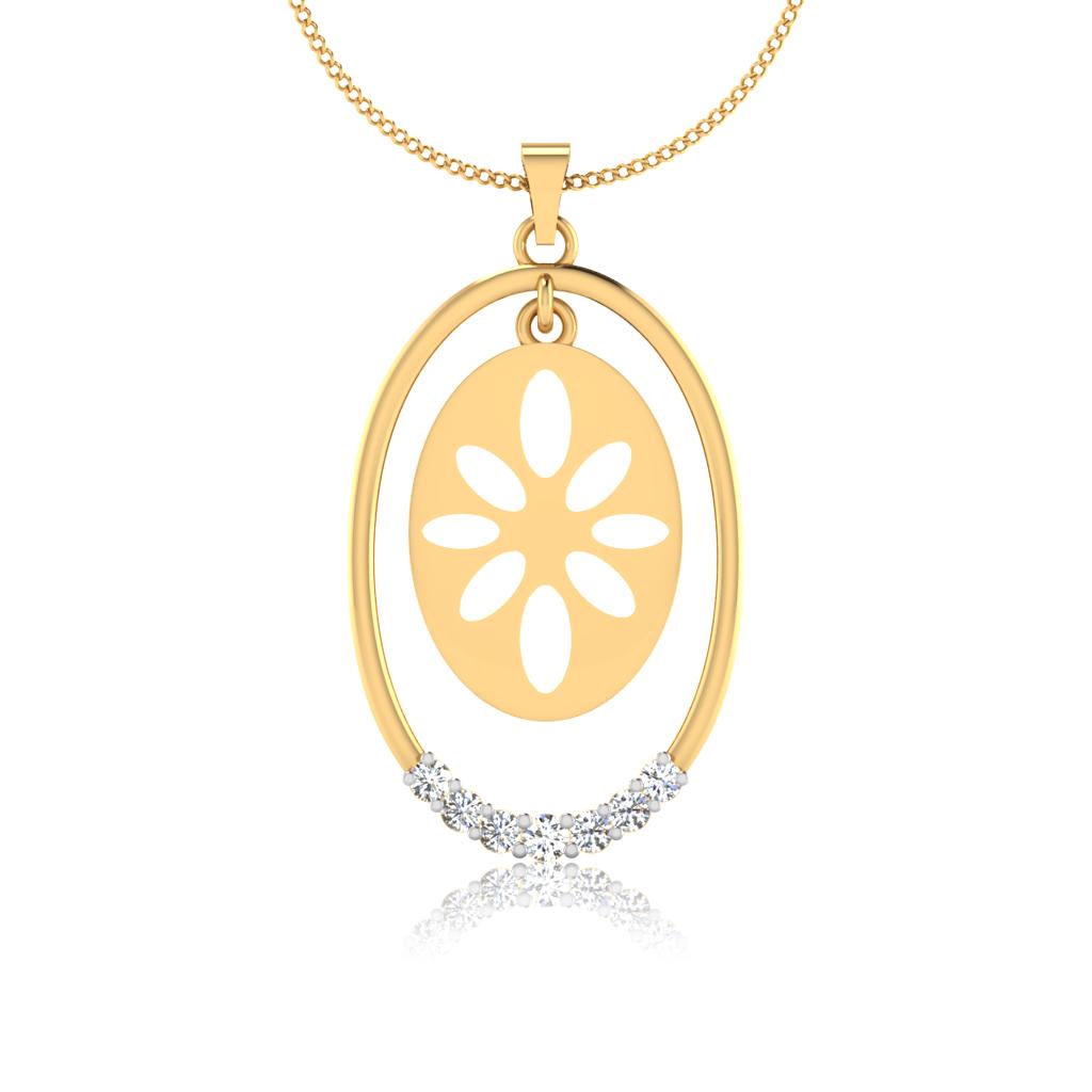 The Floral Diamond Pendant