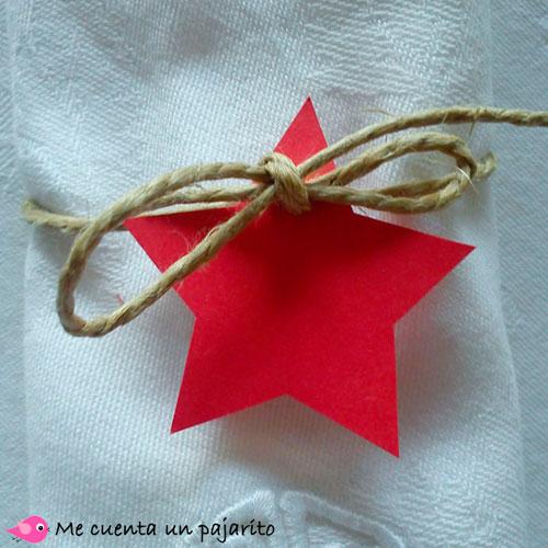 Etiqueta personalizada servilletero de Navidad