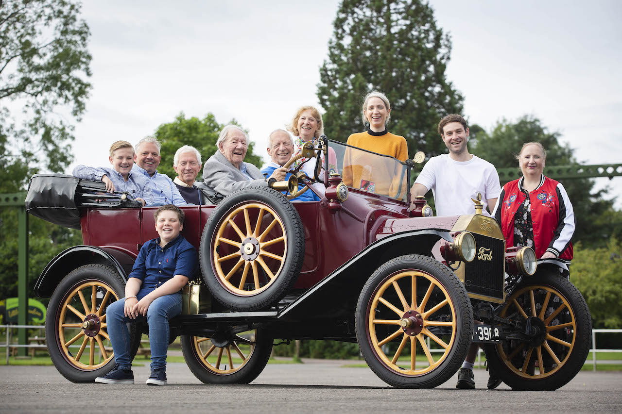 101-year-old drives Ford Mustang Mach-E and Ford Model T