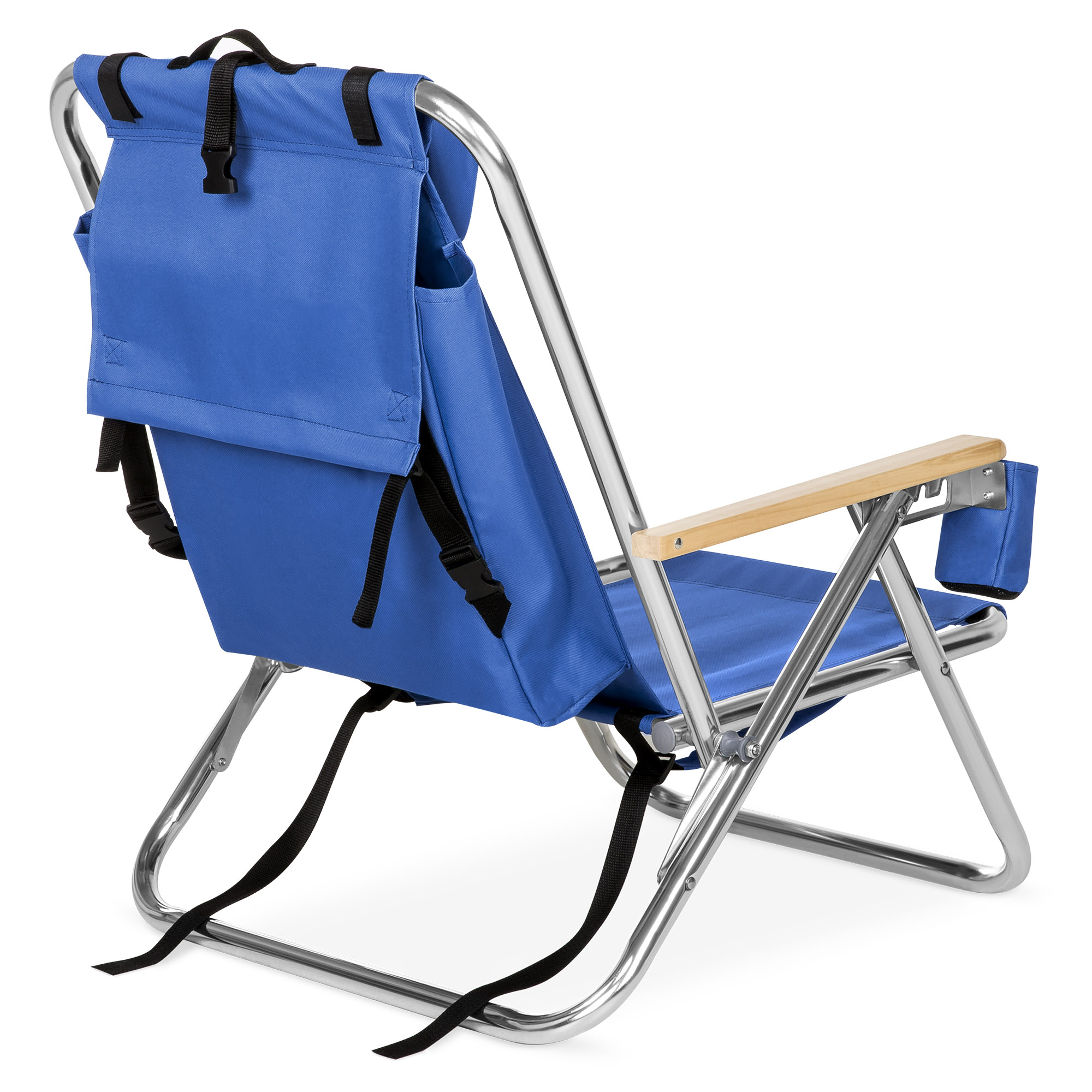 Bcp Folding Seat Backpack Chair W Padded Headrest Cup