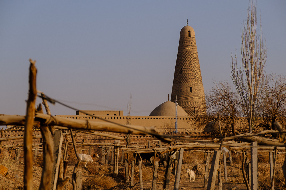 En de minaret.