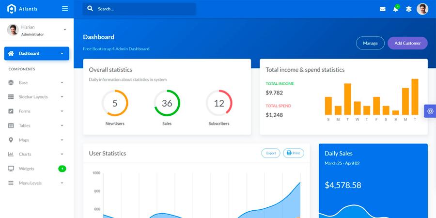 Atlantis Lite – Bootstrap Admin Template
