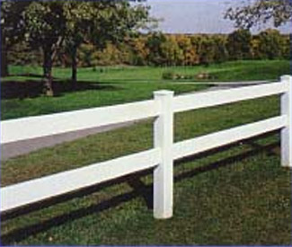 vinyl fence for ranch and farms