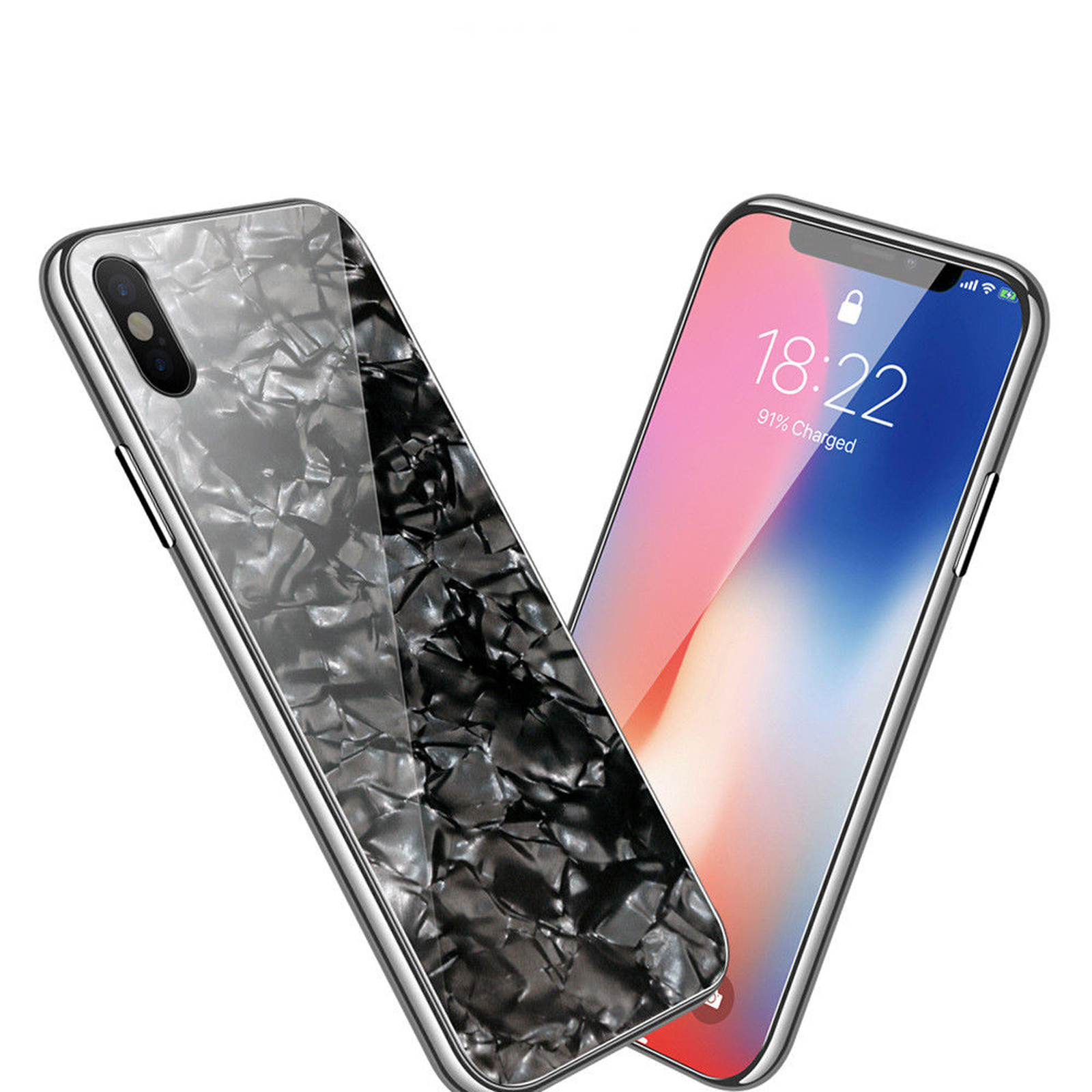 Luxury-Marble-Tempered-Glass-Case-Cover-For-Apple-iPhone-X-XS-XR-Max-10-8-7-6s-6 miniature 24